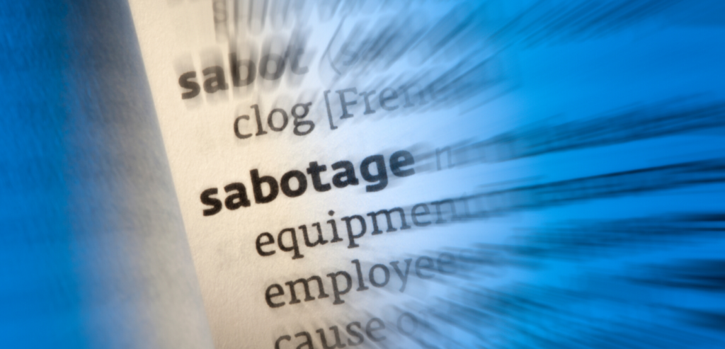 Self-sabotaging behaviors in business