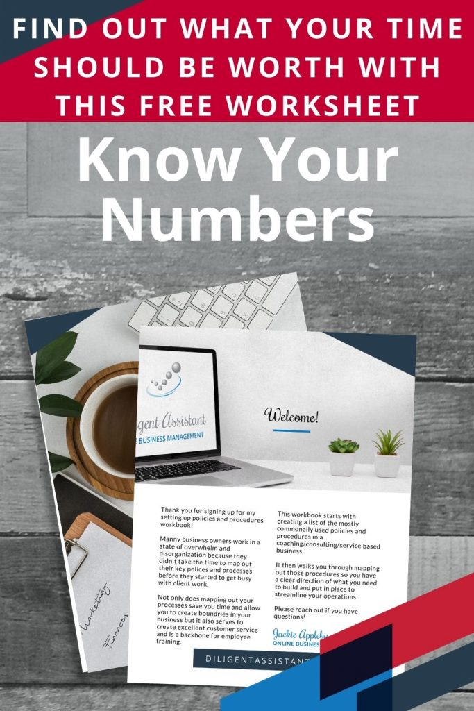 Know Your Numbers Worksheet