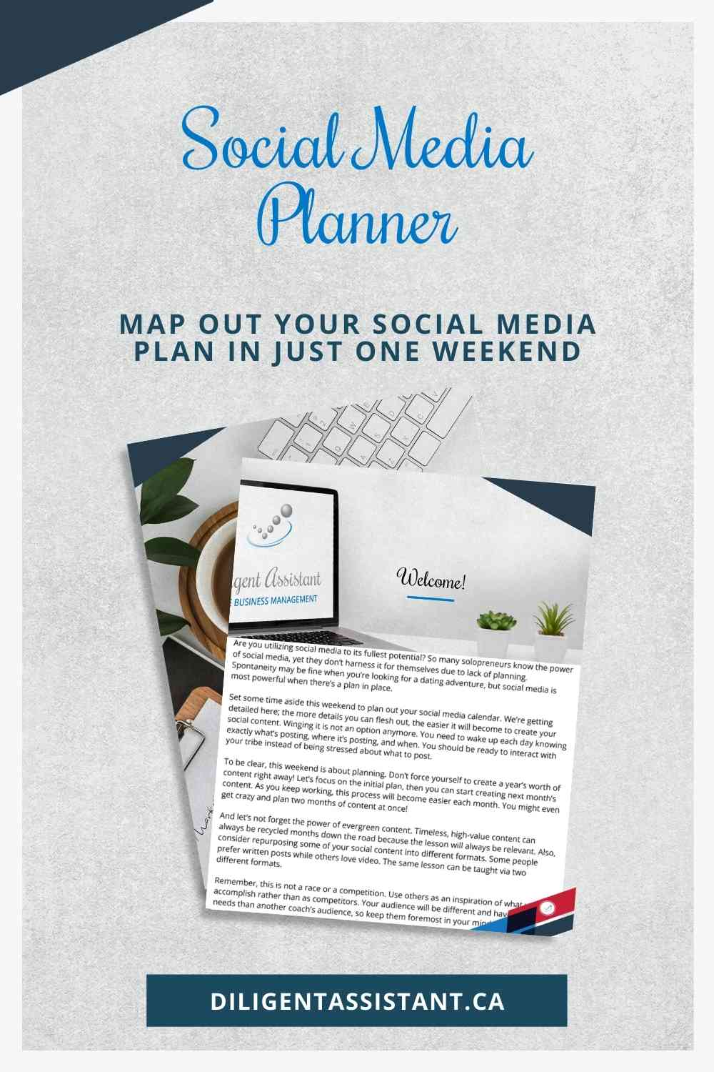 Map out your social media posting plan